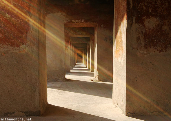 Gandikota fort passage hall sun ray