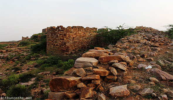 Gandikota fort ruins boundary wall India