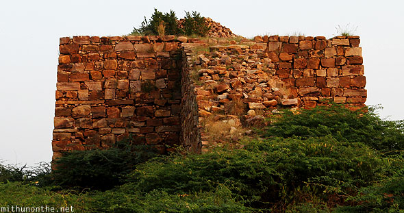 Gandikota fort ruins steps to platform