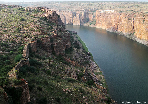 Gandikota fort walls river hills