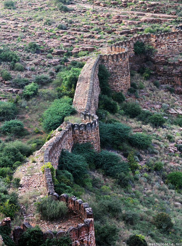 Gandikota fort walls river side panorama