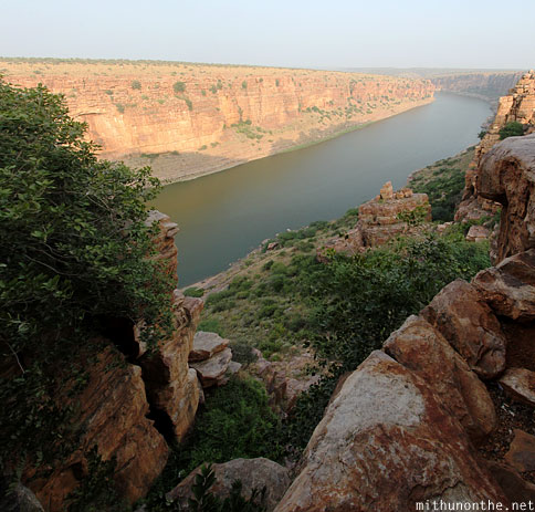Gandikota gorge from cave panorama India