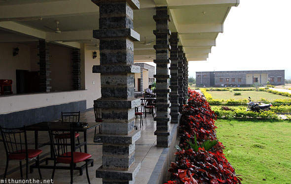 Gandikota hotel restaurant granite pillars