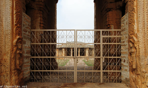 Gandikota Madhavaraya temple entrance gate locked