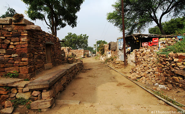 Gandikota village stone houses India