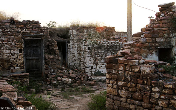 Gandikota village stones houses India