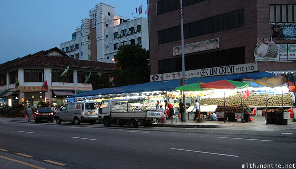 Geylang road Singapore market evening
