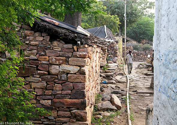 Granite stone village homes Gandikota Andhra Pradesh