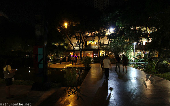 Greenbelt complex at night Ayala Manila