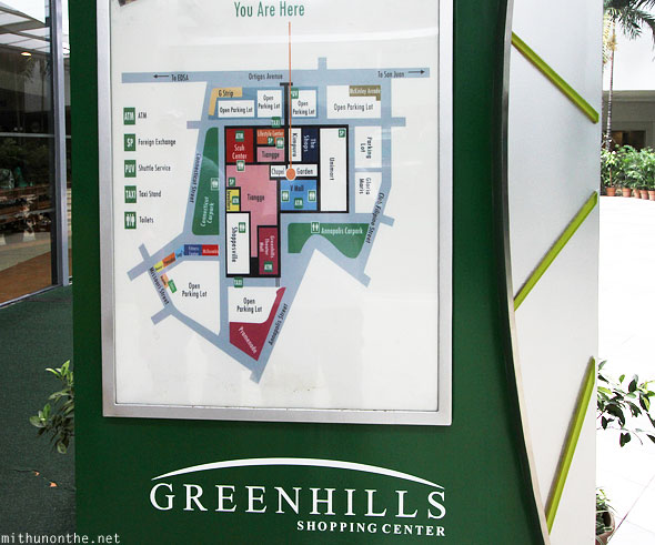 Greenhills shopping center map Manila Philippines