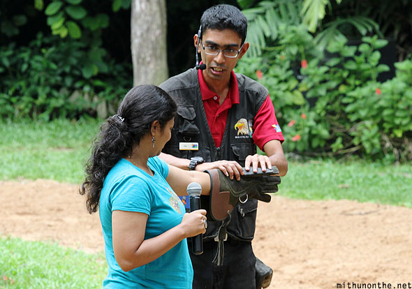 Jurong Bird Park king of skies Indian volunteer Singapore