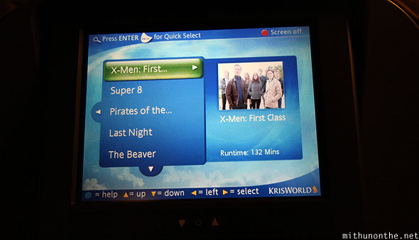 Krisworld inflight movies Singapore Airlines