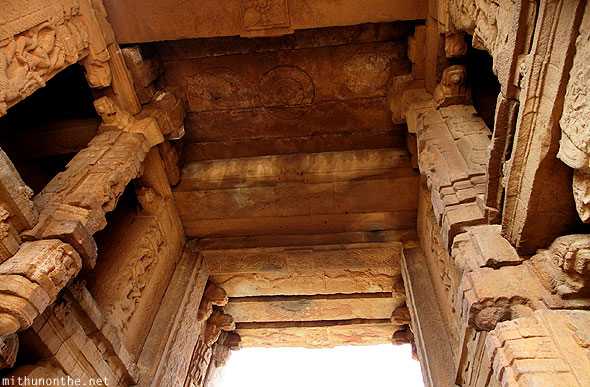 Madhavaraya temple tower ceiling Gandikota