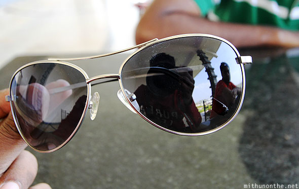 Mithun sunglasses reflection