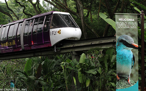 Monorail train Jurong Bird Park Singapore