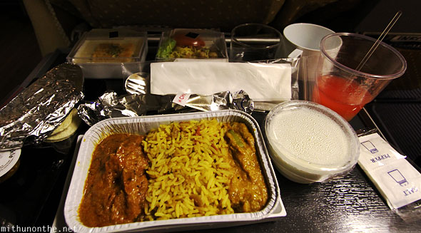 Non-veg meal Singapore airlines bangalore flight