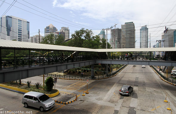 Ortigas business park overhead view buildings Manila