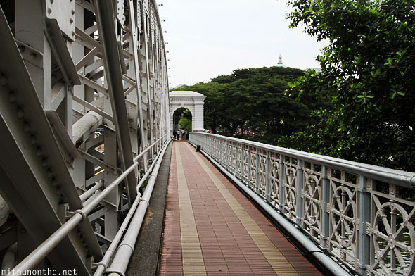 Overbridge pedestrian walkway Singapore
