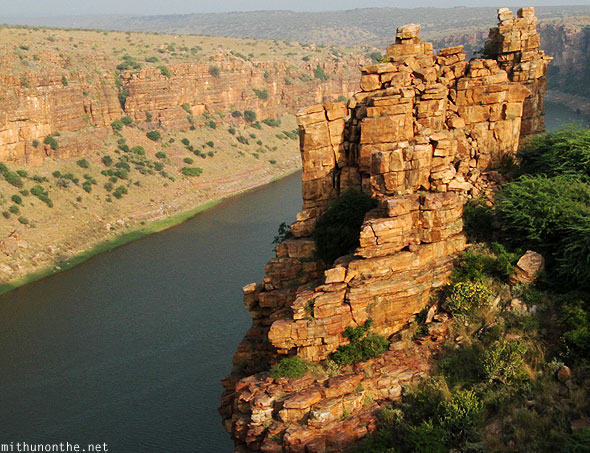 Red granite stones formation Gandikota