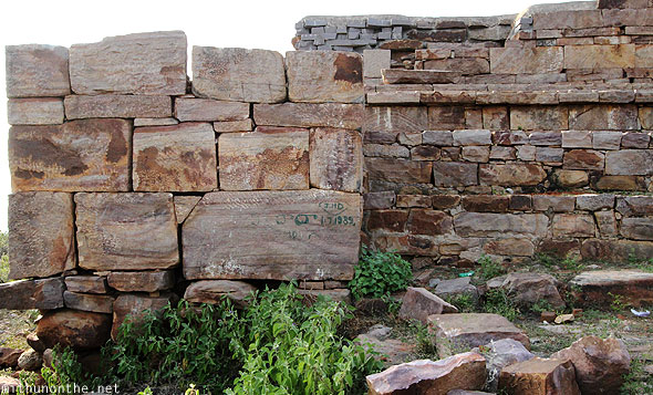 Red granite temple rocks Gandikota