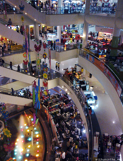 Robinsons Place mall floors from up Manila