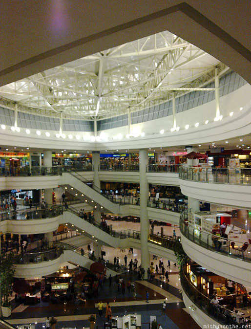 Robinsons Place mall floors night Manila Philippines