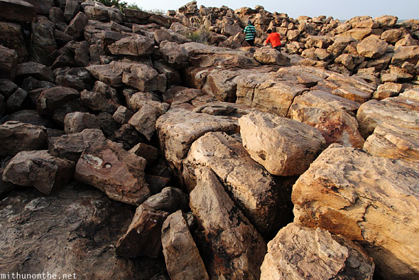 Rocks boulders Gandikota Andhra Pradesh India