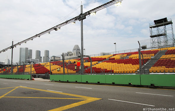 Singapore GP zone 4 seats track
