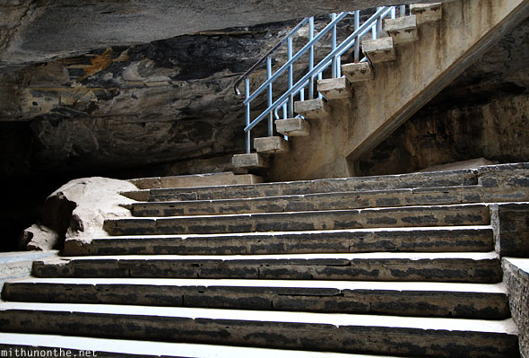 Stairs Belum Caves entrance India