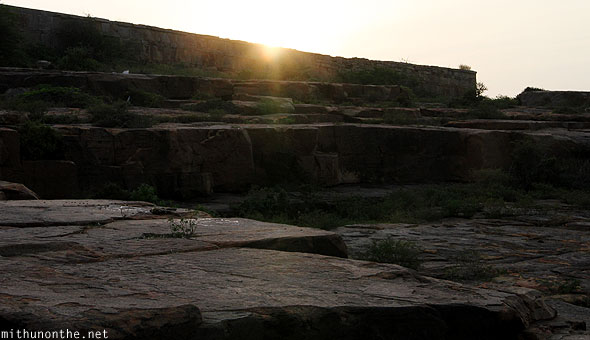 Sunset Gandikota rocks Andhra Pradesh India