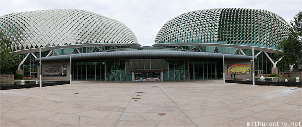 The Esplanade theatre domes Singapore panorama