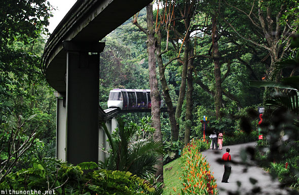 Train monorail track Jurong bird park Singapore