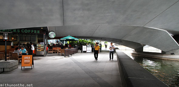 Under marina bridge Starbucks Singapore