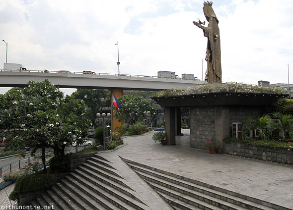 Virgin Mary EDSA shrine monument Manila Philippines