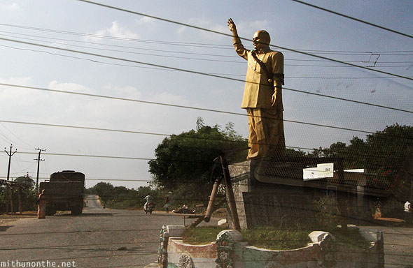 YSR golden statue junction Andhra Pradesh
