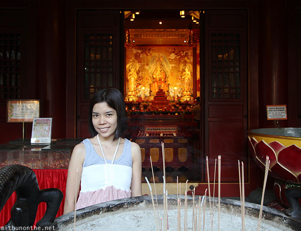 Aimee Marie Buddha tooth relic temple incense Singapore