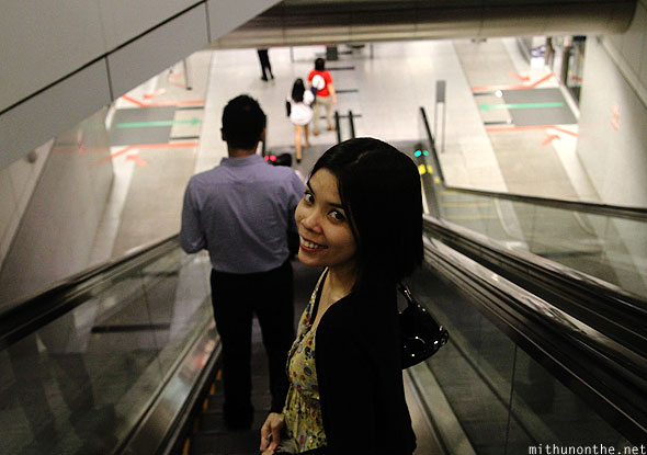 Aimee Marie Singapore escalator
