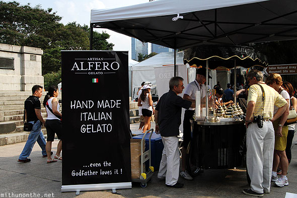 Alfero gelato ice cream Singapore gp