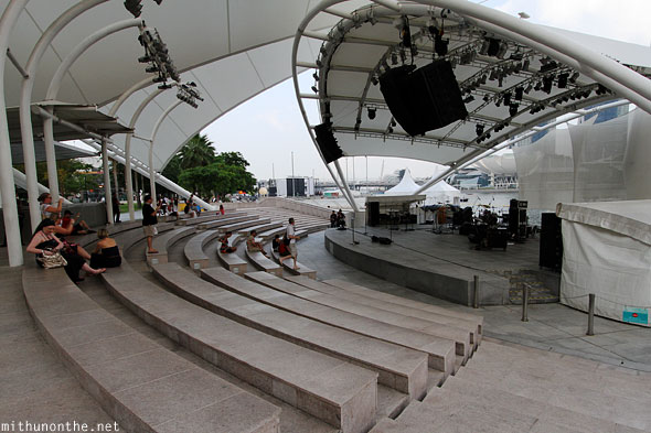 Amphitheatre by the bay stage Singapore