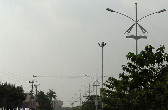 Anantapur lamp posts Andhra Pradesh India