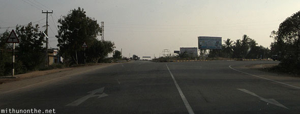 Anantapur road connecting NH7 Andhra Pradesh India