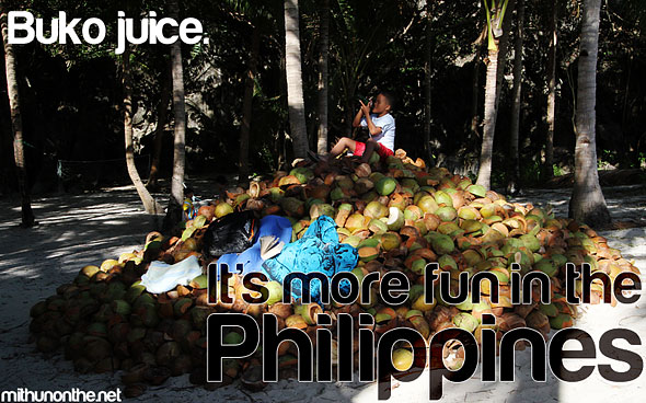 Coconut water It's more fun in the Philippines