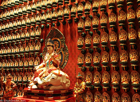 Buddha figurine tooth relic wall design Singapore