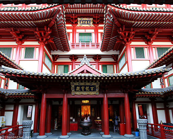 Buddha tooth relic temple front entrance Singapore