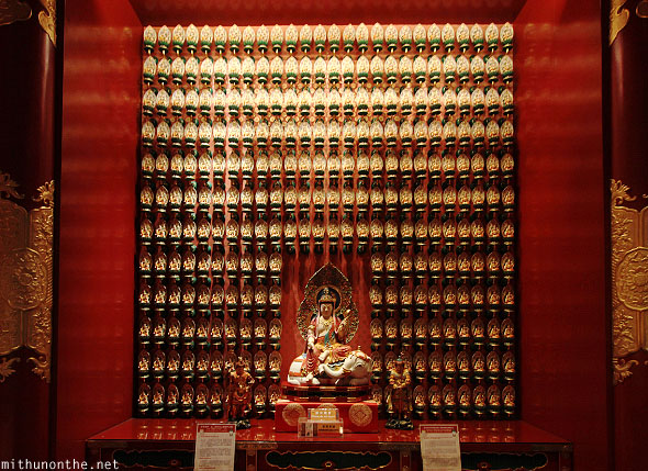Buddha tooth relic temple wall figurines Singapore