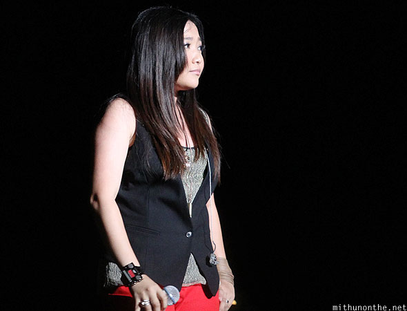Charice on stage Singapore F1 circuit