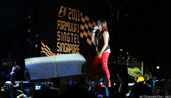Charice on stage Singapore F1 Friday concert