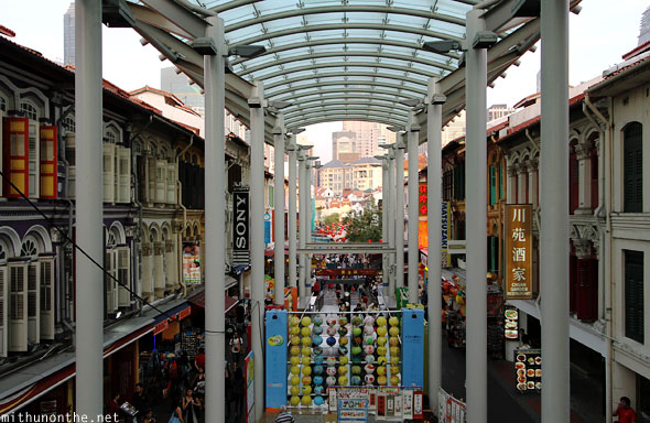 Chinatown pillars glass roof Singapore