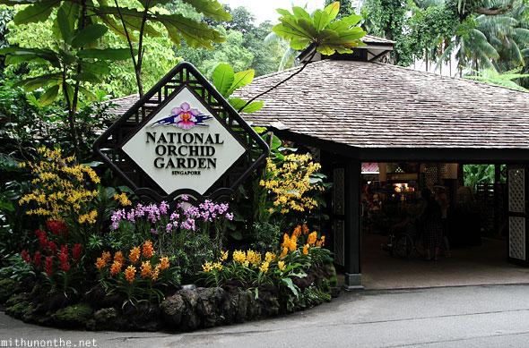 Entrance to National orchid garden Singapore