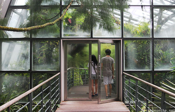 Entry to coolhouse Singapore botanic park
